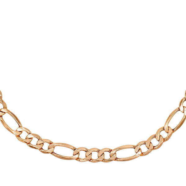 Rose Gold 'XL' Hollow Figaro Choker - Adina's Jewels