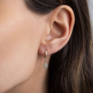 Teardrop Huggie Earring 14K  - Adina's Jewels