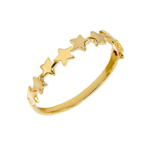 14K Gold / 6 Stars Ring 14K - Adina's Jewels