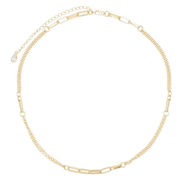 Box Chain Link Choker - Adina's Jewels