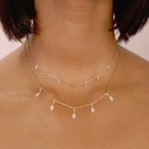 Mini Dangling Teardrop Link Necklace
