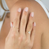 Diamond Heart Charm Ring 14K - Adina's Jewels