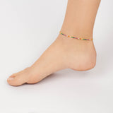 Rainbow Tennis Anklet - Adina's Jewels