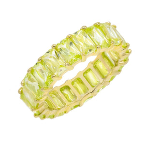 Pastel Colored Band Apple Green / 8 - Adina's Jewels