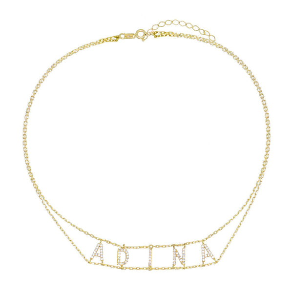 Double Chain Name Choker