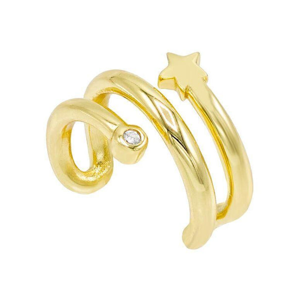 Gold Star Ear Cuff - Adina's Jewels