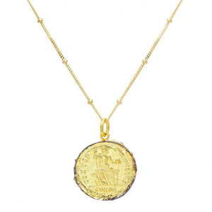 Roman Vintage Coin Necklace - Adina's Jewels