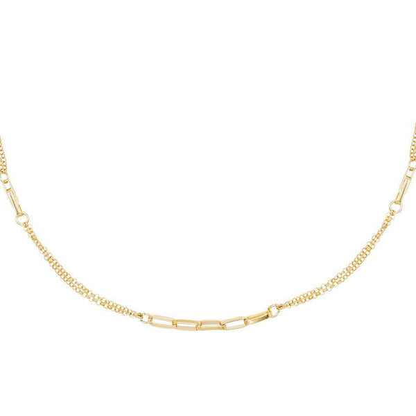 Gold Box Chain Link Choker - Adina's Jewels
