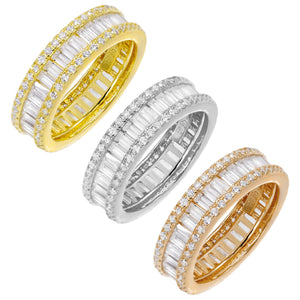Round X Baguette Eternity Band - Adina's Jewels
