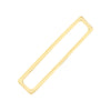 Gold / Single Solid Bar Cartilage Cuff - Adina's Jewels