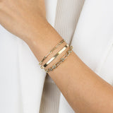 Thick Herringbone Bracelet 14K - Adina's Jewels