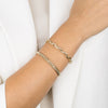 Diamond Box Link Bracelet 14K - Adina's Jewels