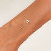 Tiny Solid Lowercase Initial Bracelet - Adina's Jewels