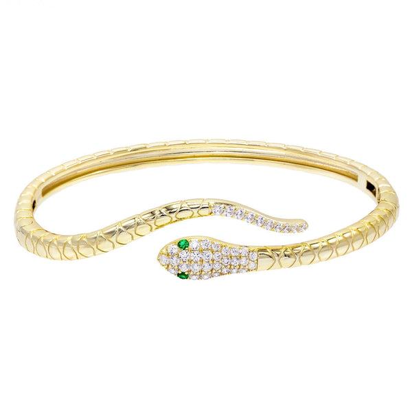 Gold Snake Bangle - Adina's Jewels