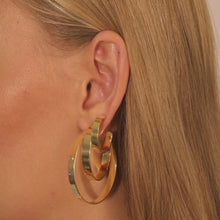 Wide Hoop Earring Combo Set