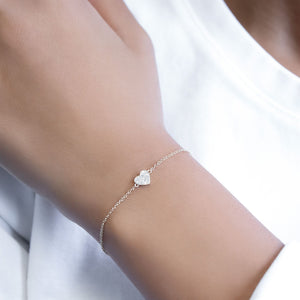Diamond Heart Bracelet 14K  - Adina's Jewels