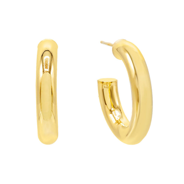 Gold / 35 MM Thick Hollow Hoop Earring - Adina's Jewels