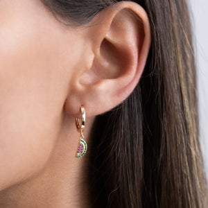 Watermelon Huggie Earring - Adina's Jewels
