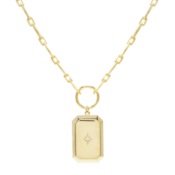 Gold Starburst Boxed Necklace - Adina's Jewels