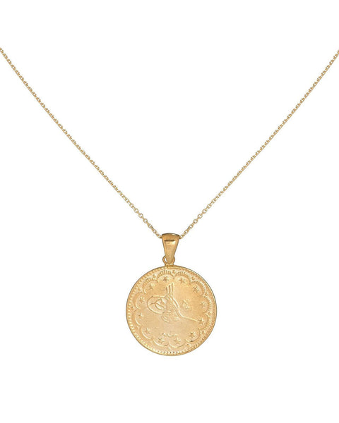 Gold / Thin Chain Vintage Coin Necklace - Adina's Jewels
