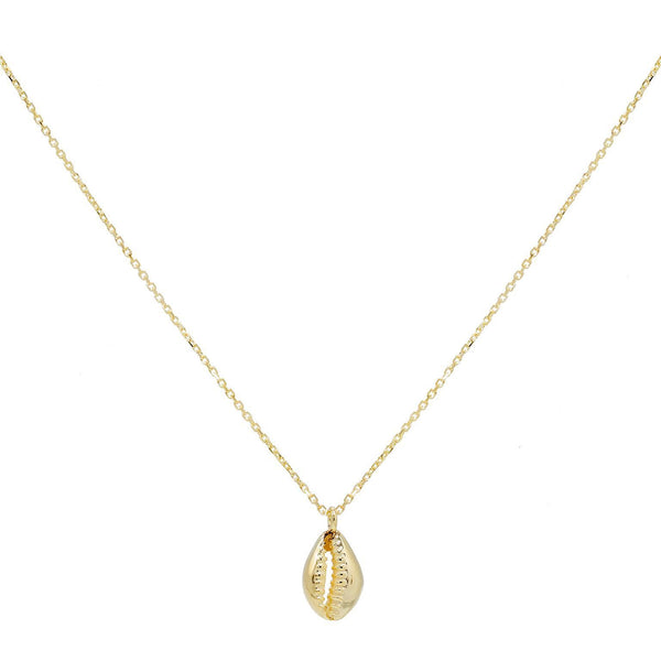 14K Gold Shell Necklace 14K - Adina's Jewels