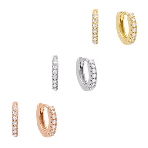 CZ Trio Huggie Earring Combo Set Combo - Adina's Jewels