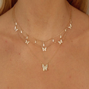 Pavé Butterfly Necklace