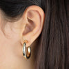 Thin Hollow Hoop Earring 14K - Adina's Jewels