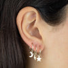 Solid Lightning Bolt Hoop Earring 14K - Adina's Jewels