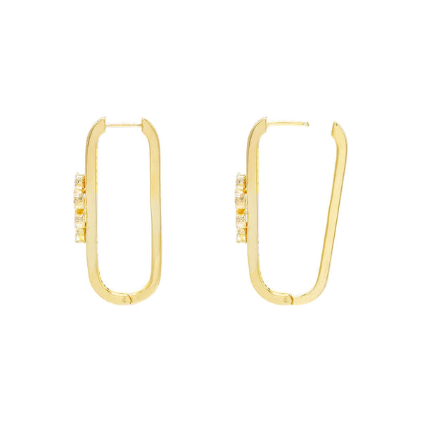 Serpent Rectangular Hoop Earring