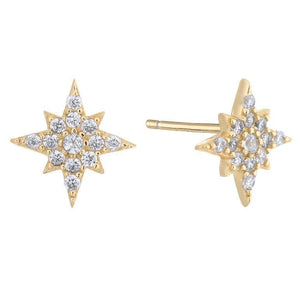 Starburst Stud Earring Gold - Adina's Jewels