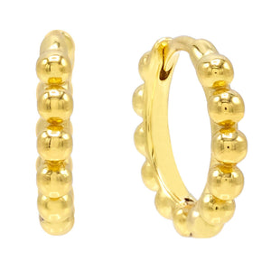Beaded Huggie Earring - Adina's Jewels