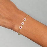 CZ Colored Illusion Teardrop Bracelet - Adina's Jewels