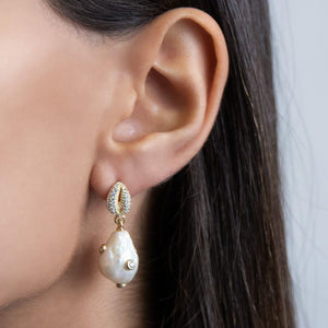 Pearl Shell Stud Earring  - Adina's Jewels