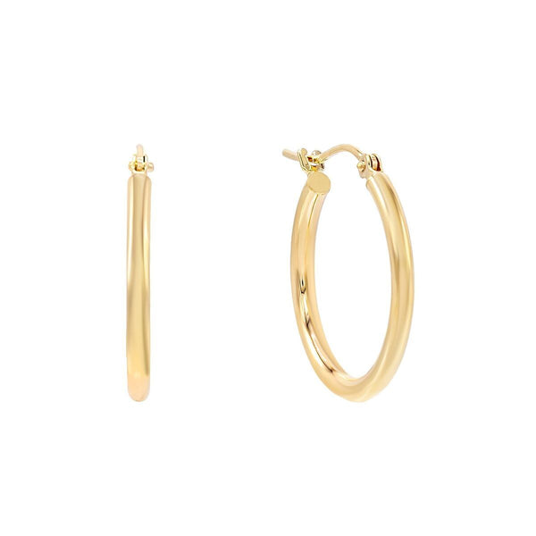 Thin Hoop Earring 14K