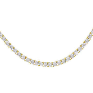 "Gold / 3 MM / 16"" Tennis Necklace - Adina's Jewels"