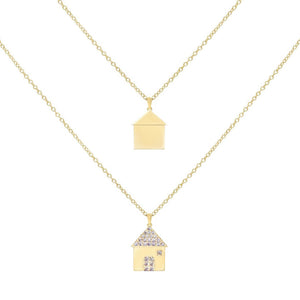 Mismatch House Necklace Combo Set Gold - Adina's Jewels