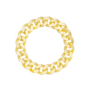 Solid Cuban Chain Ring Gold / 6 - Adina's Jewels