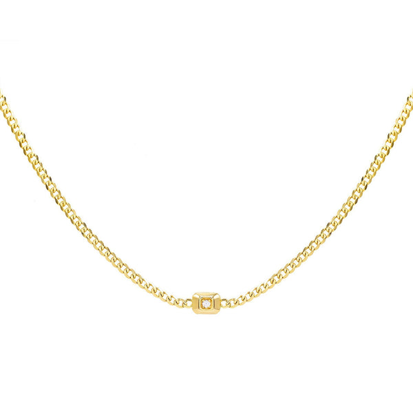 14K Gold Diamond Chain Necklace 14K - Adina's Jewels