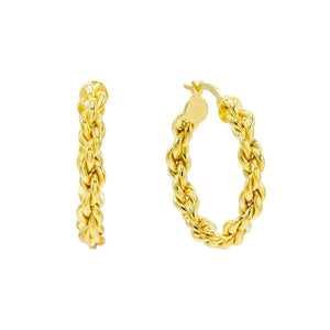 Gold Knotted Chain Hoop Earring - Adina's Jewels