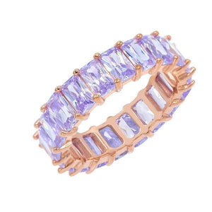 Pastel Colored Band Lilac / 9 - Adina's Jewels
