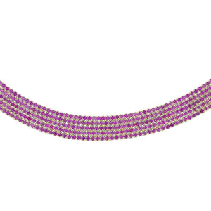 Magenta 5 Row Tennis Bracelet - Adina's Jewels