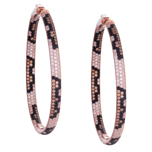 Leopard Statement Hoop Earring - Adina's Jewels