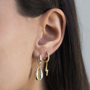 Colored Lightning Huggie Earring - Adina's Jewels