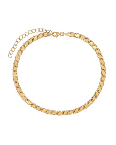 Gold Heavy Chain Anklet - Adina's Jewels