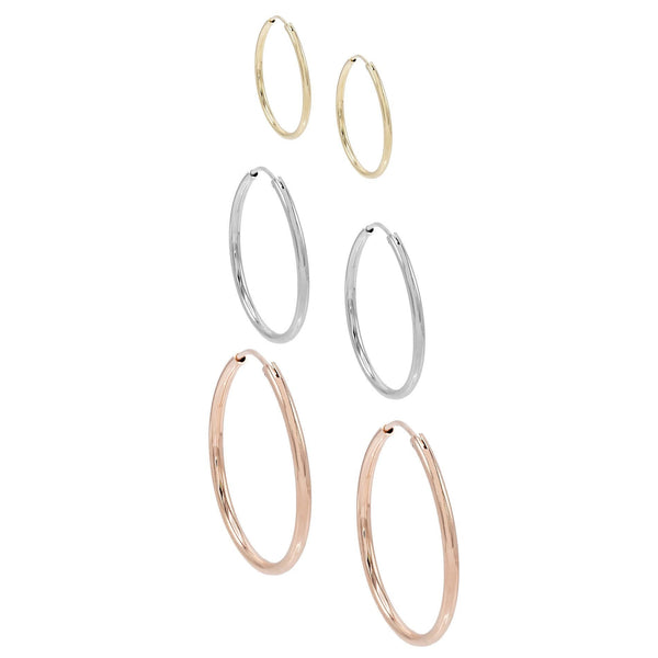 Combo Trio Solid Hoops Set - Adina's Jewels