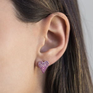 Heart Stud Earring - Adina's Jewels