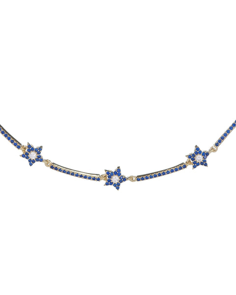 Sapphire Blue / Onyx Colored Starz Choker - Adina's Jewels