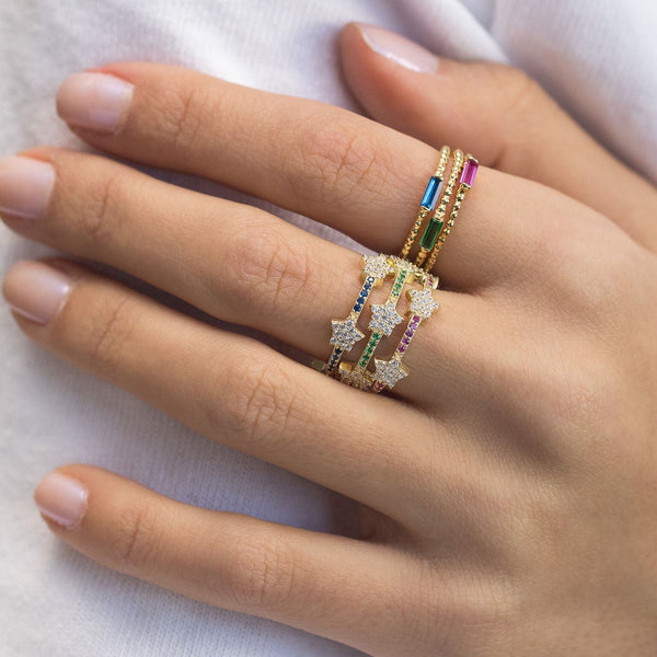 Trio Stars Rings - Adina's Jewels