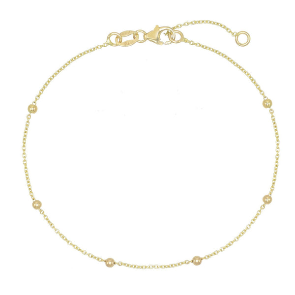 14K Gold Ball Chain Bracelet 14K - Adina's Jewels